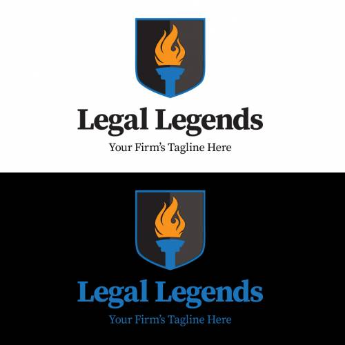 Torch Shield Legal Logo - Vertical Color Logos
