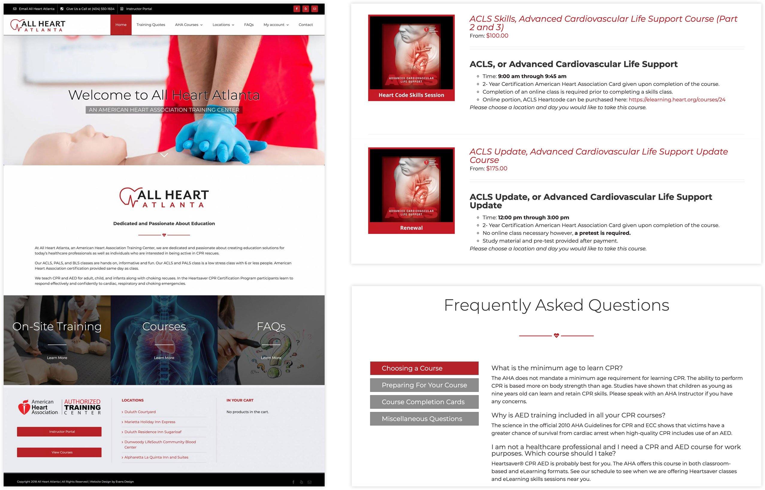 All Heart Atlanta Healthcare Website Design