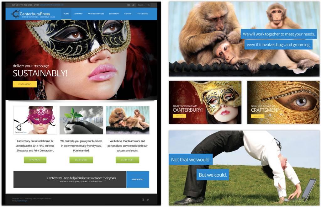 Canterbury Press Printing Company Website Design