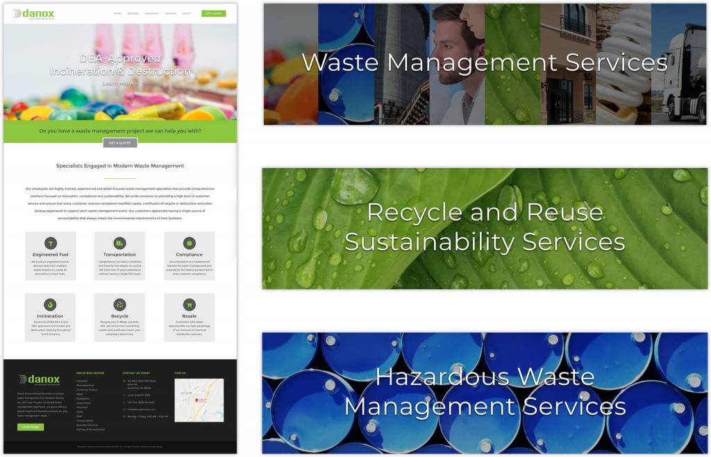 Danox Environmental Services Small Business Website Design