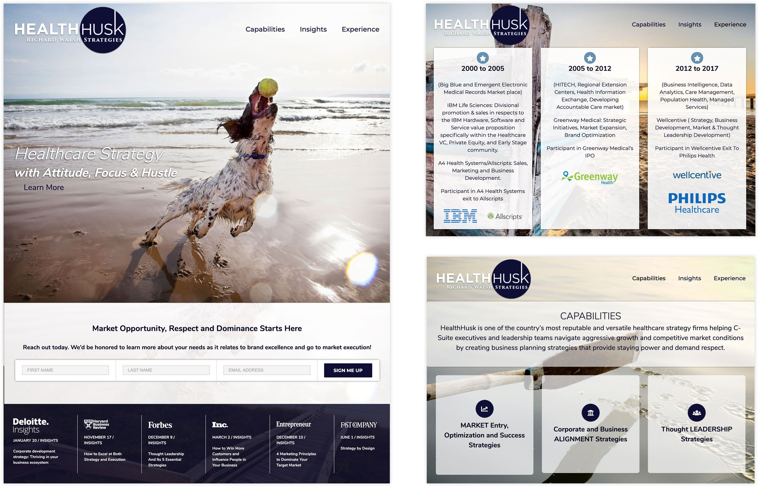 Health Husk Website Design