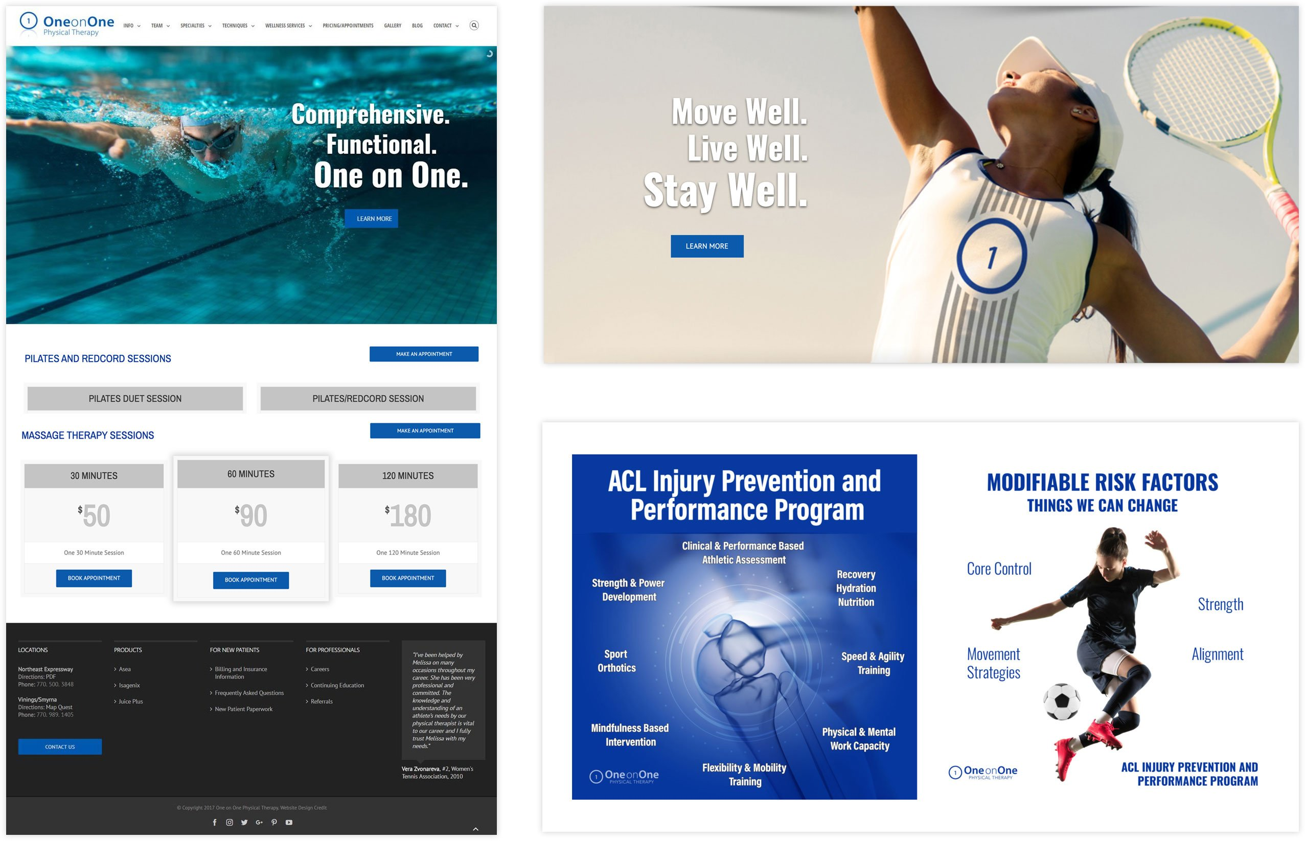 One on One Physical Therapy Website Design