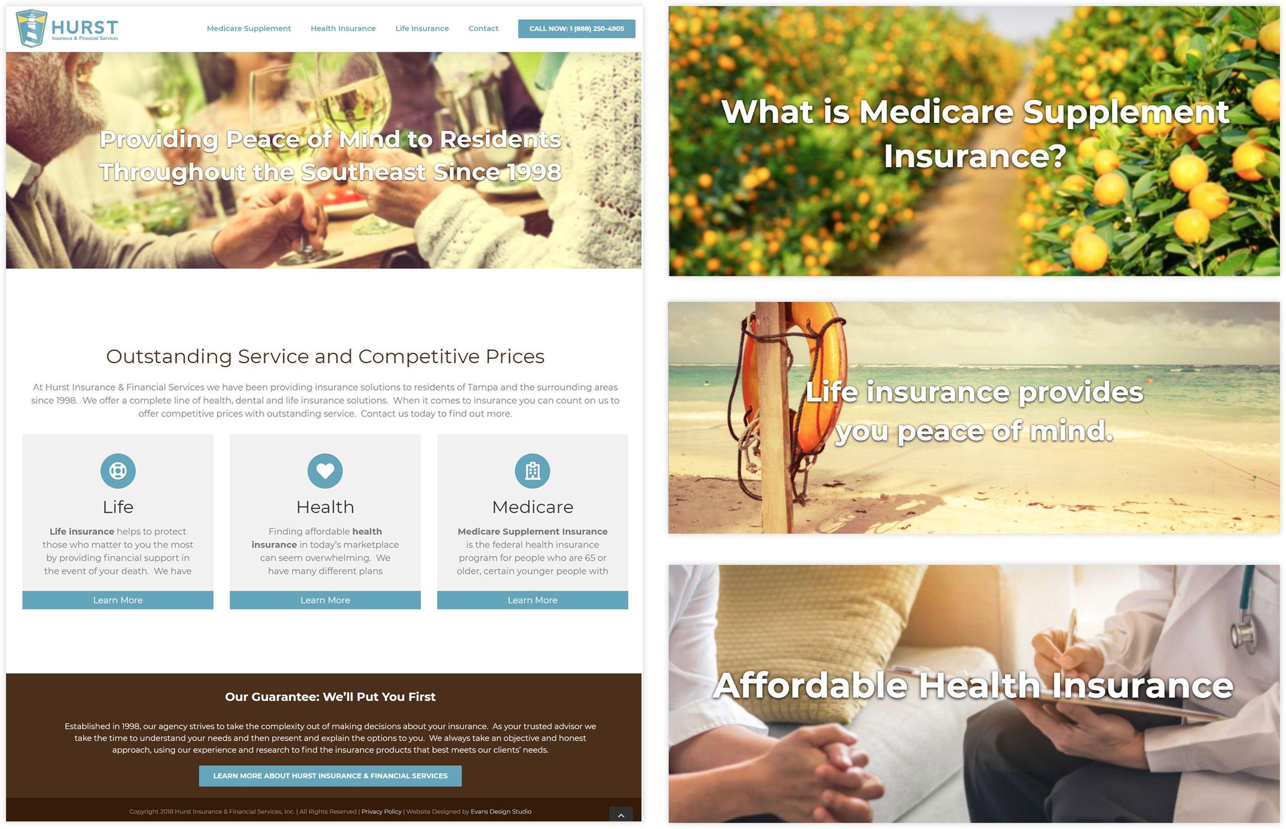 Hurst Financial Services Website Design