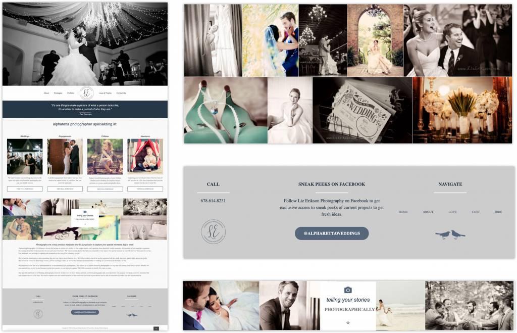 Liz Erikson Alpharetta Photographer Website Design