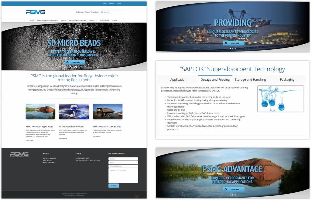 PSMG Mining Company Website Design