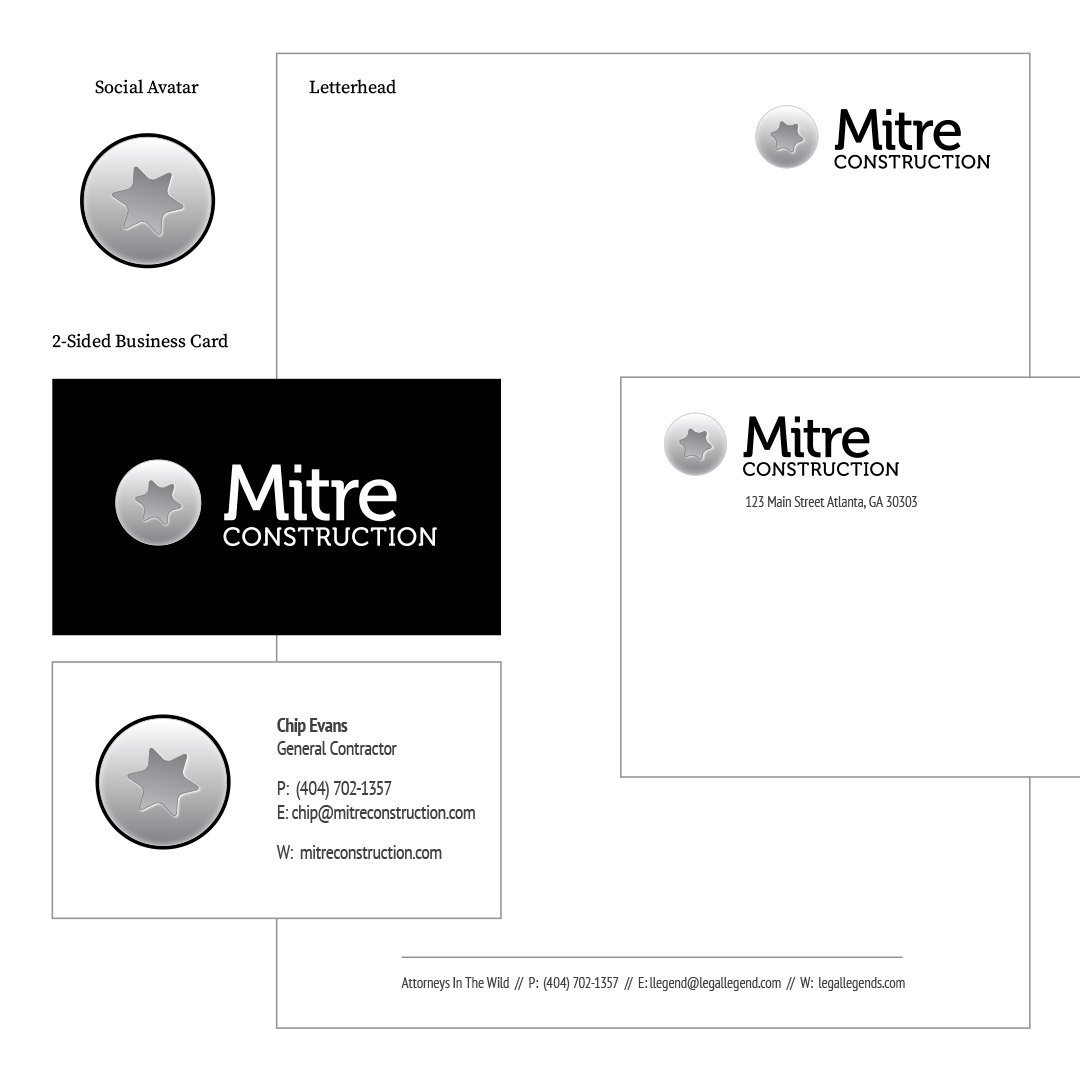 Mitre Construction Company Corporate Identity Package