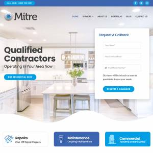 Residential Services Company Website Design Template