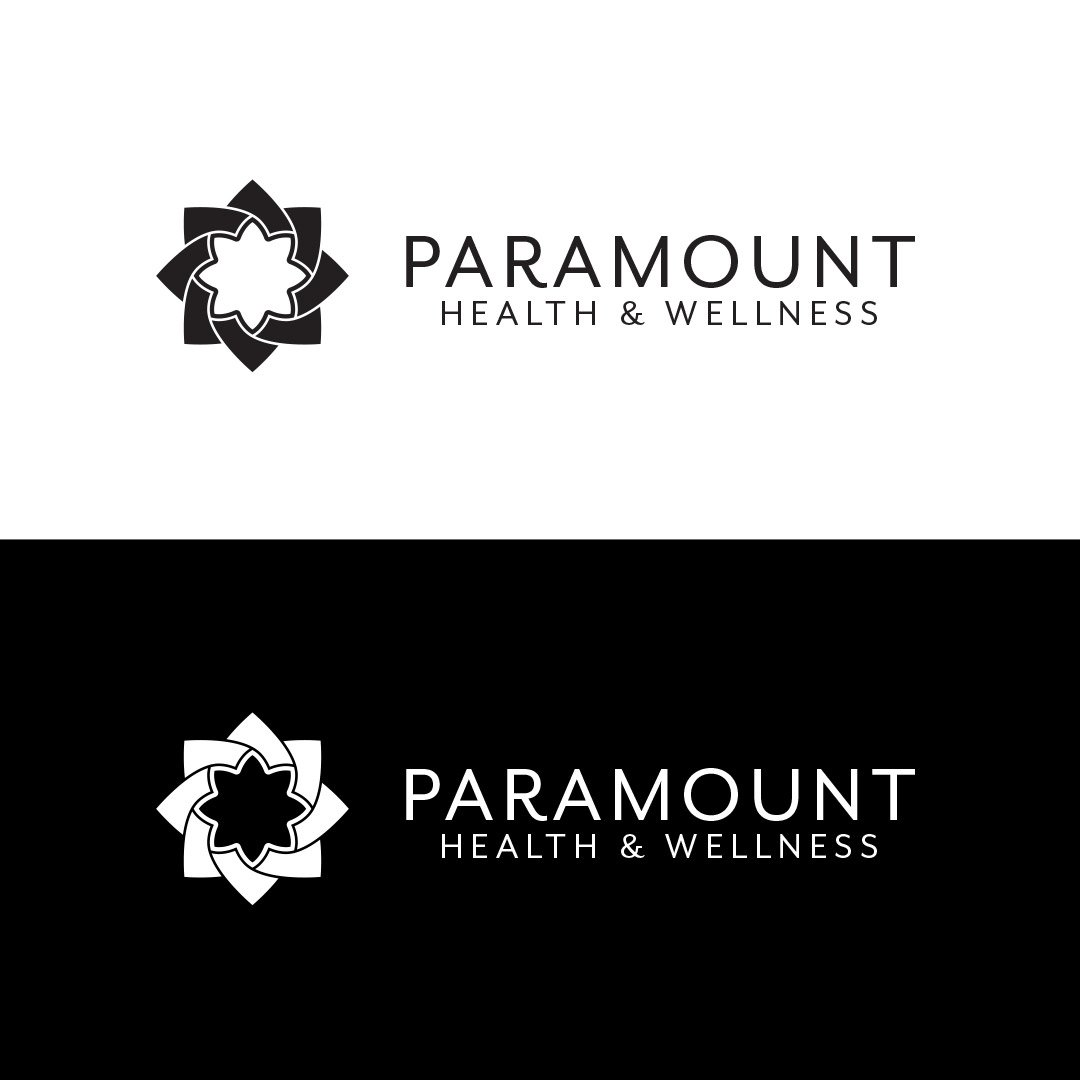 Health and Wellness Logo Horizontal Black White
