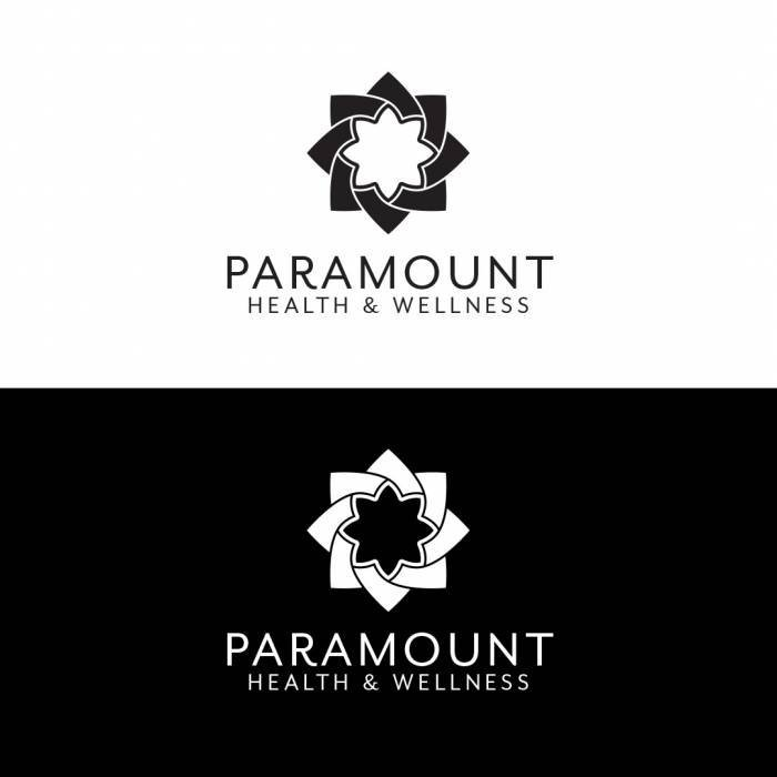 Health and Wellness Logo Vertical Black White
