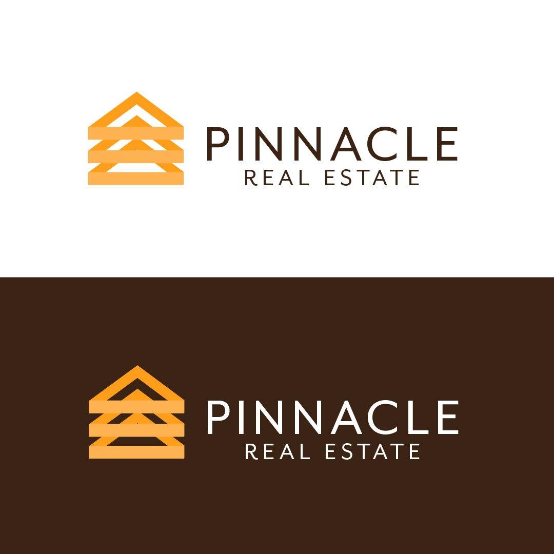 Pinnacle Real Estate Company Logo Horizontal Color