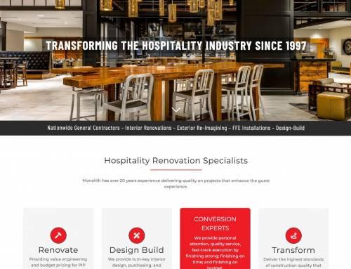 Website Design for Monolith Renovation Specialists