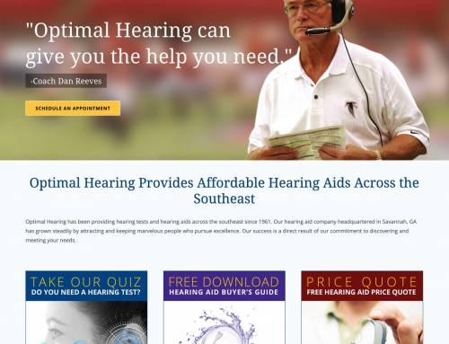 Website Design for Optimal Hearing